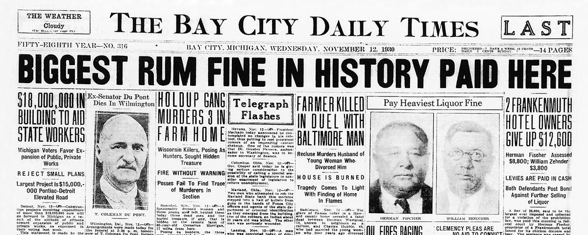 Zehnder's during Prohibition