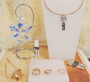 Swarovski treasures in Zehnder's Gift Shop