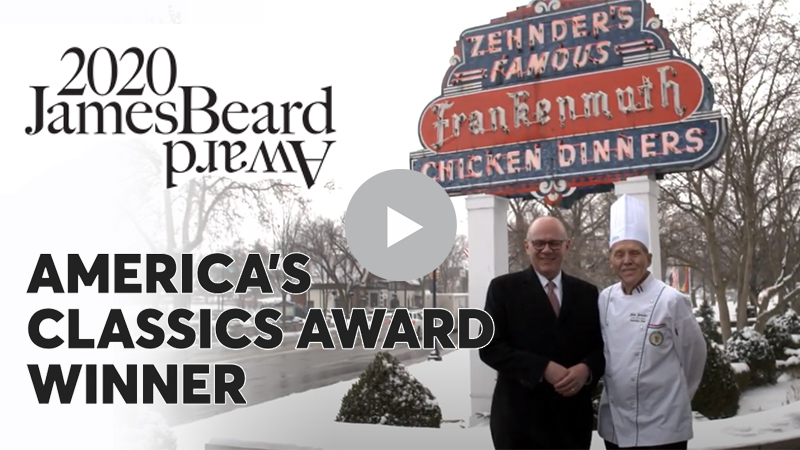 Zehnder's of Frankenmuth 2020 James Beard Award Winner