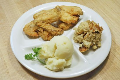Four Chicken Wings Dinner with two sides
