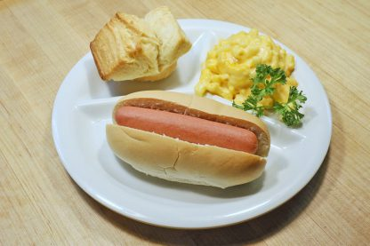 Kids Hot Dog Dinner