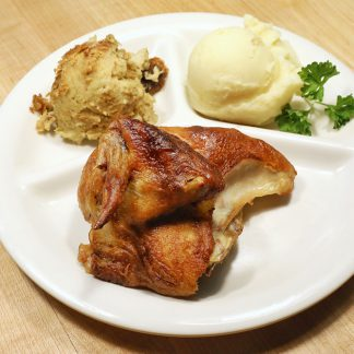 Quarter Rotisserie Chicken dinner with two sides
